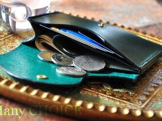 イタリアンレザー・帝王ブッテーロ・ミニマム財布(グリーン)の画像
