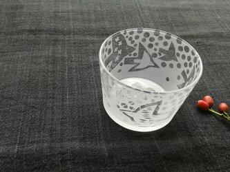 ガラスの小鉢 はばたきの画像
