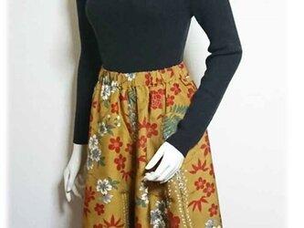 50着物リメイクスカーチョ(ショート丈)の画像