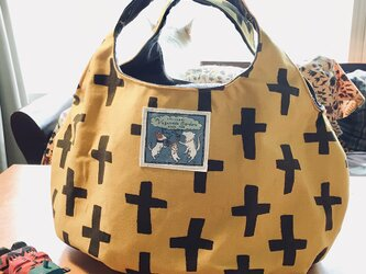 kororin bag basic イエロー&ブラウンの画像