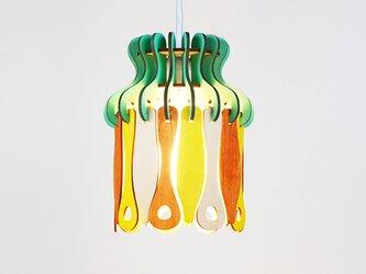 「トロピカル」木製パネルペンダントライトの画像