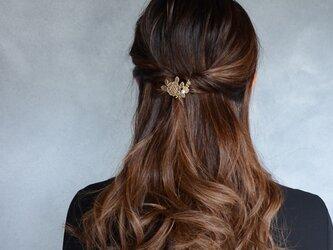 flower lace ヘアフック パールなしの画像