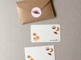 パンのメッセージカード 20枚の画像