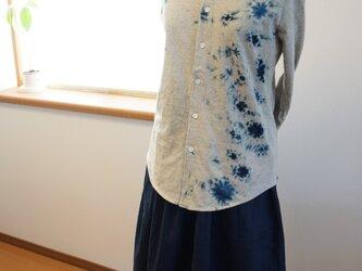 藍染 カットソー長袖シャツ 白影 size1の画像