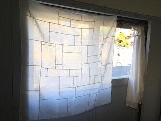 白パッチワーククロス  100cm Aの画像