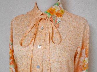着物ロングシャツ(ボウタイ付き)  Kimono Long Shirt  LO-150/Mの画像