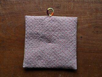米刺し刺繍の鍋敷き 016の画像