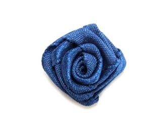服飾素材 バラ ブルー 4個入りの画像
