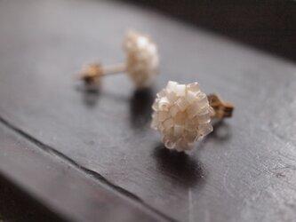 タティングレース 14kgf  confeito(コンフェイト)silk beads  white 受注制作の画像