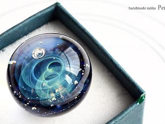 """ガラスの""""宇宙""""オブジェ 18mm【B0197】の画像"""