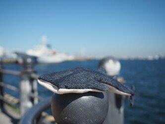 ジンベエザメのバネ口ポーチ(岡山デニム)の画像