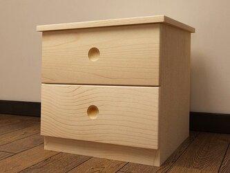 オーダーメイド 職人手作り キャビネット ベットサイドテーブル 収納 北欧 家具 無垢材 おうち時間 エコ LR2018の画像