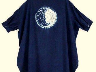 ◆100%自然素材 天然灰汁発酵建て 本藍染◆ ロングチュニック ~ブランド『美ひめMihime』~の画像