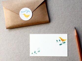 葉っぱと鳥のメッセージカード 20枚の画像
