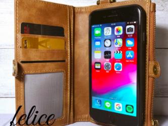 【新作】iphone6/6s/7/8手帳型 iphone スマホケース 収納抜群の画像