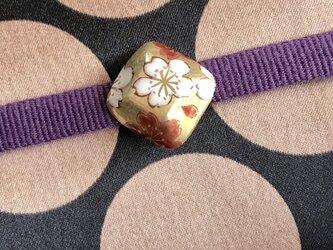 桜 ゴールド 小さな帯留めの画像