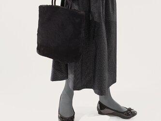 季節の変わりめに 黒 ドット コットン ロングスカート ●STELLA-BLACK●の画像