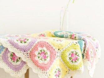 【受注製作】モチーフ編み・のブランケットの画像