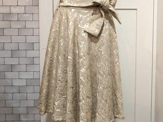 ●*●イタリヤ製ふくれジャガード使用*サーキュラースカートの画像
