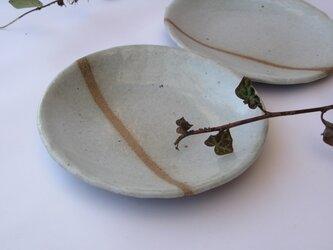 土灰LINEの皿 小の画像