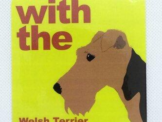 ウェルシュテリア DOG IN CAR 横顔ステッカー 車 玄関の画像