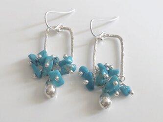 turquoise*silver pierceの画像
