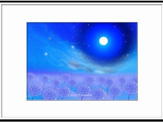 「謎めいて幻想」 ほっこり癒しのイラストA4サイズポスターNo.626の画像