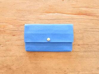 通帳ケース ブルーの画像