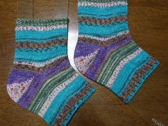 手編みかかと靴下 opal 2106の画像