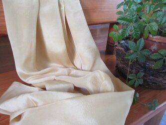 草木染 フジ染 シルク 大判 ストールの画像
