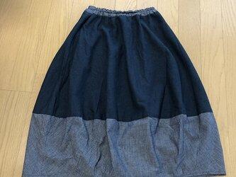 バイカラーのバルーンスカートM~Lの画像
