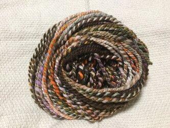【手紡ぎ糸(スピンドル)の販売です✨】  メリノウール シルク 56gの画像