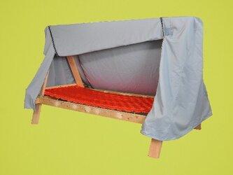遮光天幕付き組立てベッドの画像