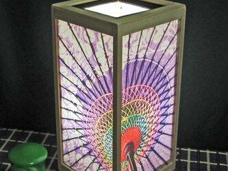 夢明かり≪絵日傘哀愁≫ 紙貼・中形・LED・桧創 飾りライトの醍醐味を!!の画像