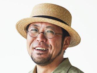 マラン・オム 麦わら カンカン帽子 男性用 ストローハット (グログランブラック) 60cm [UK-H047]の画像