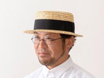 鬼麦 麦わら カンカン帽 帽子 ストローハット 57.5cm [UK-H048-M]の画像