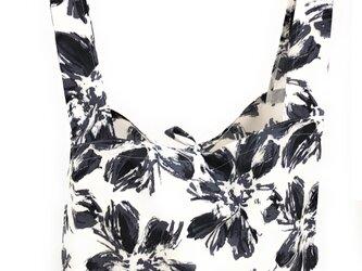MAMARLINE エコバッグ レジ袋 サイズL フラワー柄 ホワイトの画像