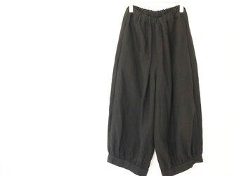 ベルギーリネン裾カフスパンツ*ブラックの画像