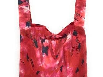 MAMARLINE エコバッグ  レジ袋 サイズL リンクル柄 レッドの画像