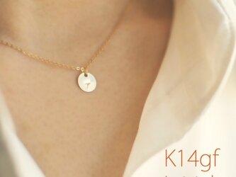 K14gf イニシャル ネックレス 40cmの画像