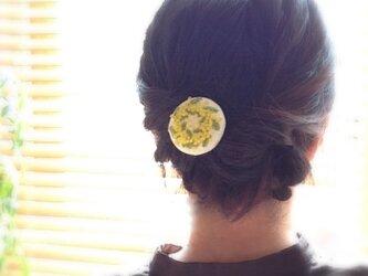 ミモザのリース ヘアピンの画像