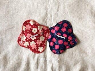 Choose!布ナプキン S・さくらとつばき /1枚の画像