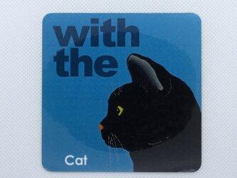 黒猫 横顔 ステッカー CAT IN CAR 玄関 車 キャリーバッグの画像