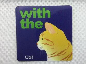 茶トラ 横顔 ステッカー CAT IN CAR 玄関 車 キャリーバッグの画像