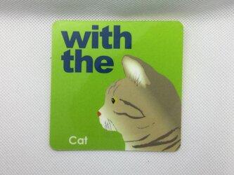 キジトラ 横顔 ステッカー CAT IN CAR 玄関 車 キャリーバッグの画像