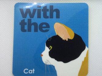 三毛猫 横顔 ステッカー CAT IN CAR 玄関 車 キャリーバッグの画像