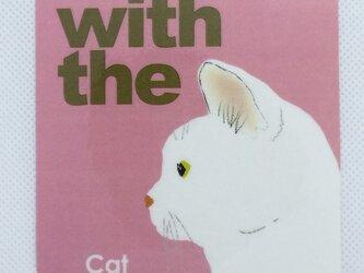 白猫 横顔 ステッカー CAT IN CAR 玄関 車 キャリーバッグの画像