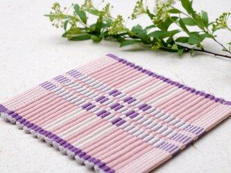 手織りコースター【C-Rep*03】の画像