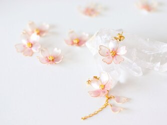 〜 桜・艶 〜 ピンクパール【ディップアート】ピアスの画像