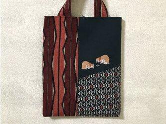浮世絵刺繍バッグ*歌川芳藤「猫尽両めん合」の猫の画像